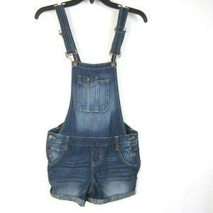 LEI Denim Bib Overalls Shortalls Shorts S Blue EUC